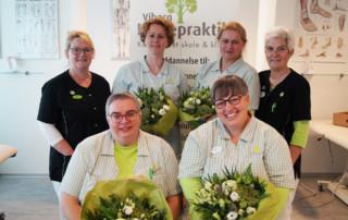 Nyudlærte fodplejer fra fodplejeskolen i Viborg