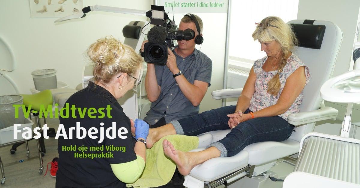 Viborg Helsepraktik har besøg af TV Midtvest